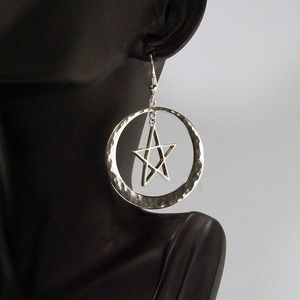 Jewelry - Articulated Star Sterling Silver Dangle Earrings